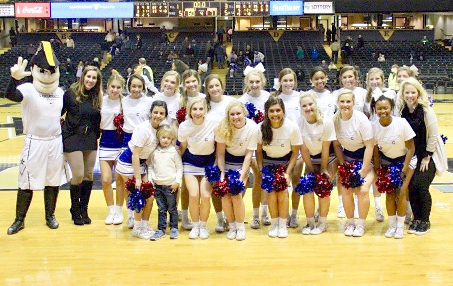 CLEVELAND HIGH SCHOOL'S varsity cheerleading squad recently performed at Vanderbilt University. In the front row, from left, are Caroline Owens, Hannah Graig, Lindsey Gregg, Olivia Calfee, Katelyn Hanshew, Grace Martin, Brianna Tate and Melissa Barnett. In back are Jacquellyn Ingle, Jaylee Ingle, Tiffany Croft, Anna Kate Sims, Callahan Tentler, Cameron Davis, Elizabeth Eachus, Haley Younce, Jaelyn Blackwell, Lanie Neidling, Caroline Shaver and Caroline Balmer.