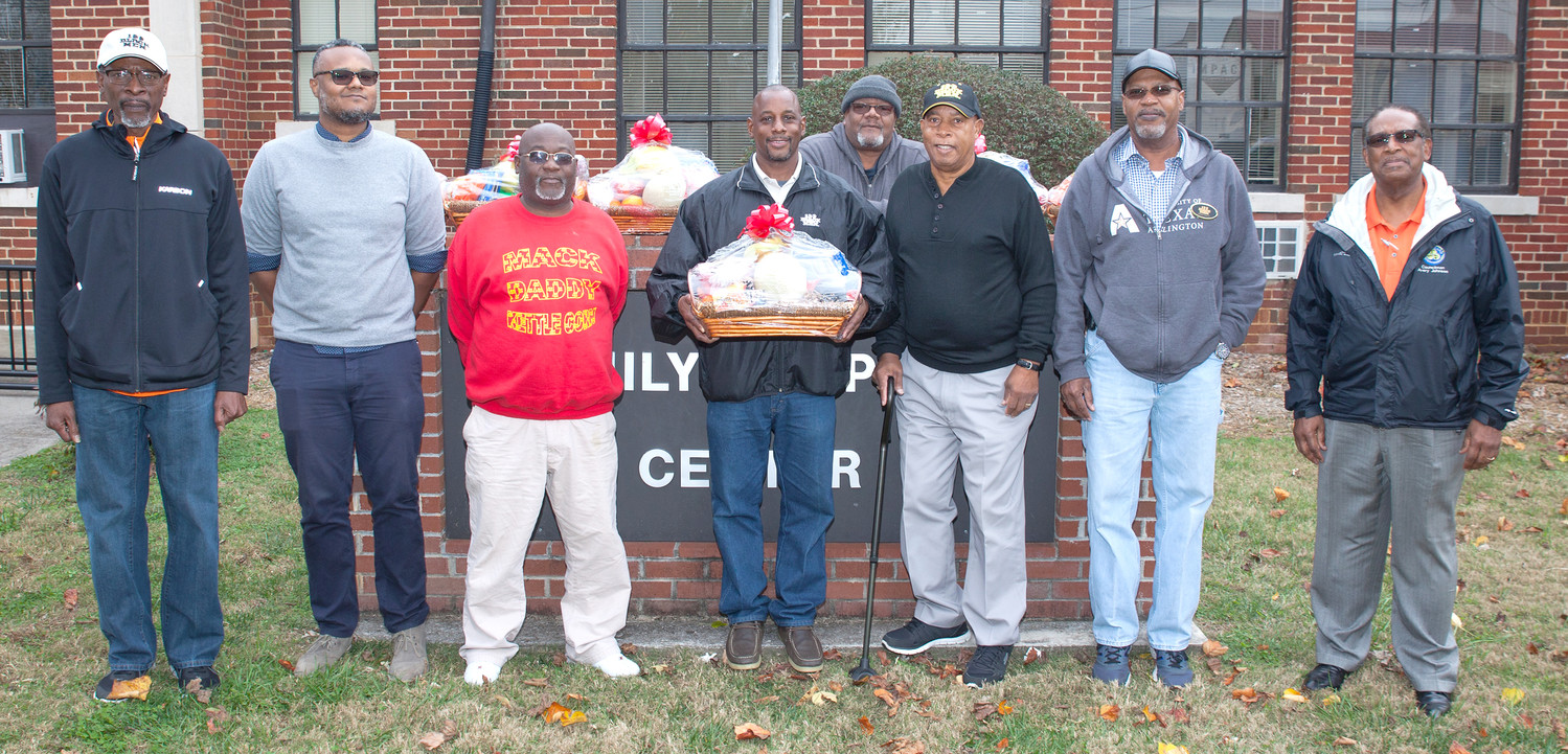 ONE OF CLEVELAND's most respected nonprofit mentoring groups, the 100 Black Men of Bradley County, continued its civic service work. Here, a few of the organization's board members display Thanksgiving baskets they distributed to families in need during the holiday period as 2017 came to a close.