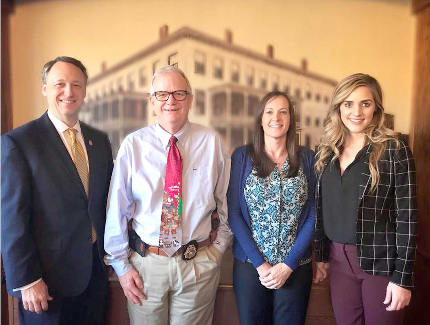 10TH JUDICIAL DISTRICT ATTORNEY GENERAL Steve Crump, left, has announced three new staff members to his office. They include, from left, Tony Isom, Amy Argauer and Coty Wamp.