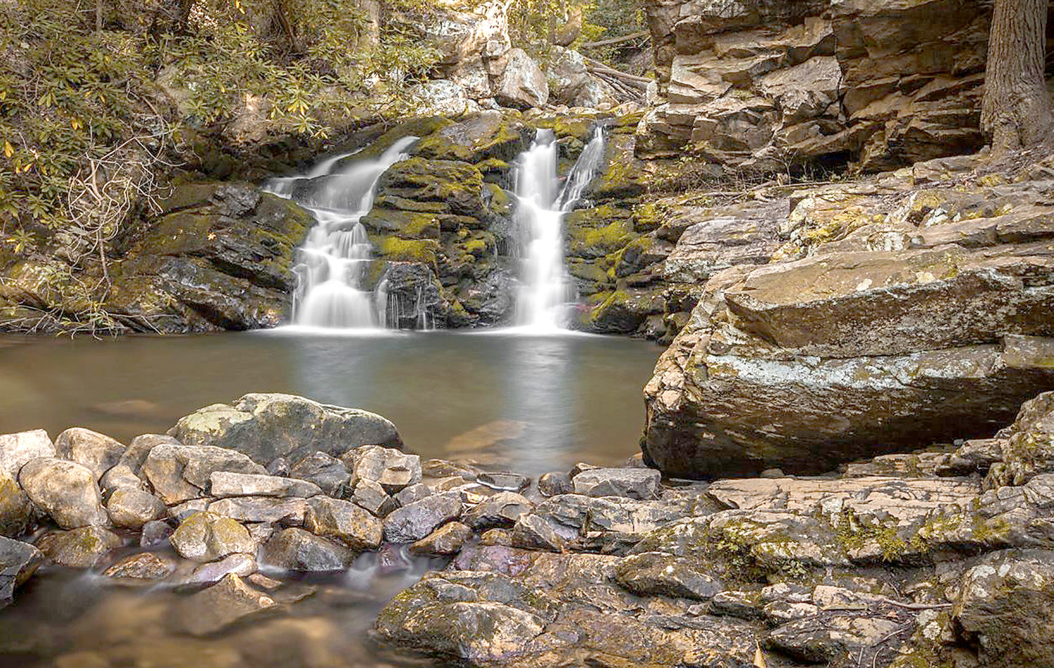 THE LOOKOUT WILD Film Festival fits in nicely in Chattanooga, as the Tennessee Valley hosts some of the most beautiful nature hikes and outdoor adventures in the world.  This waterfall from the Ocoee region is but one example of the sights in the area.