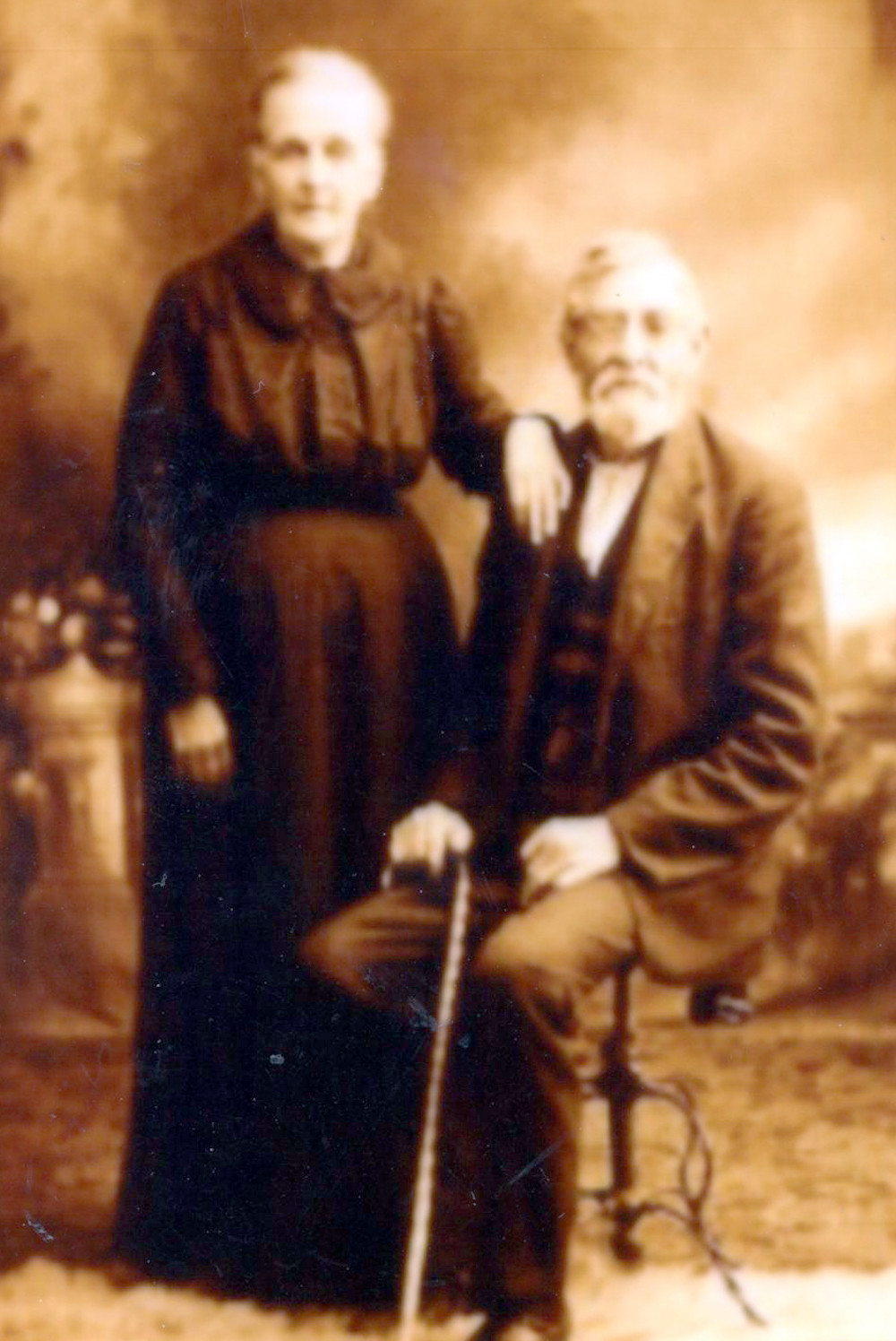Jim Brown shared a photo of his great-grandparents. This is Henry Kitzmiller Brown and wife, Elizabeth Thompson Brown. He served in Neal's 16th Battalion Tennessee Confederate Cavalry, Company E.