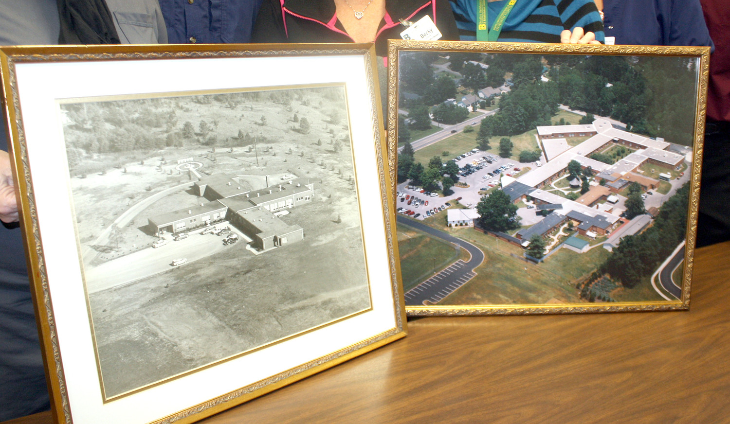 THE BRADLEY HEALTHCARE and Rehabilitation Center was opened as a county/state collaboration project in November of 1957 as a 51-bed facility, left photograph. The county-owned facility has undergone three additions to become a 200-plus-bed facility (right photo).