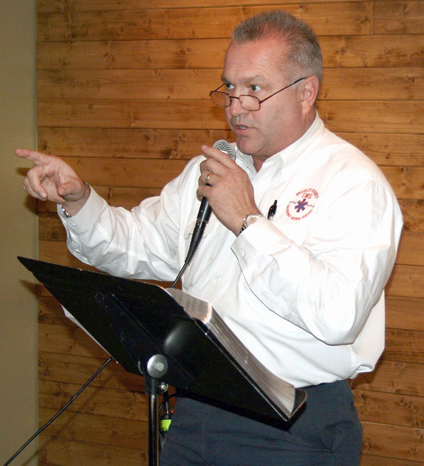 STAN CLARK, the assistant director of Bradley County EMS gave a speech for the EMS students at the event filled with humorous tales, as well as tips for avoiding his past mistakes! He also praised the works of the department and encouraged the students to continue growing.