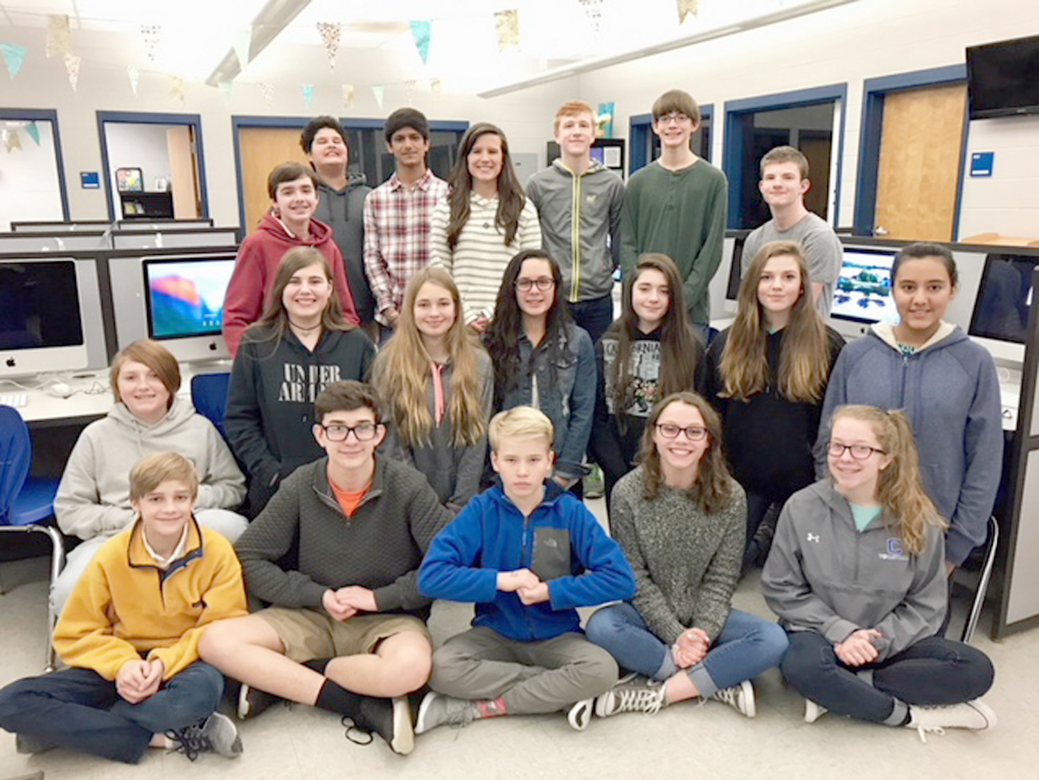 Hannah Medemas Eighth Grade Computer Applications Class Members At Cleveland Middle School Gathered After A
