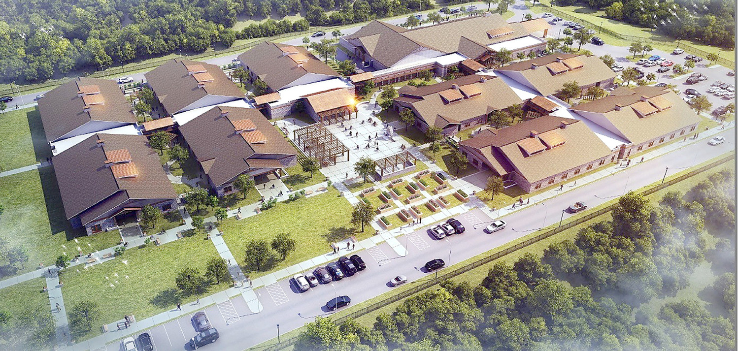THE MOOD OF LOCAL LEADERS is becoming more upbeat over the future of the Bradley County State Veterans Home, following last week's endorsement by Tennessee Gov. Bill Haslam. Above is an aerial view of the proposed veterans home which would be located on a Westland Drive site off APD-40.