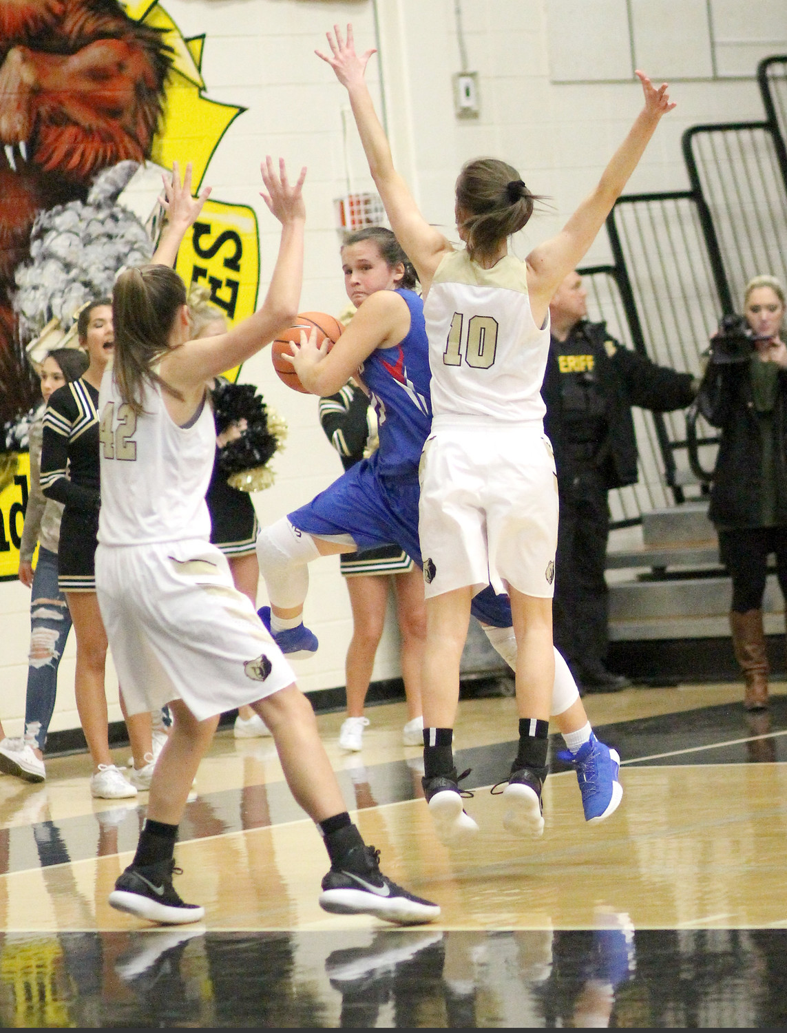 "CLEVELAND HIGH junior Madison Dasher, center, will be looking for openings, while Bradley Central defenders Anna Walker (42) and Anna Roberts (10) will be applying pressure during the District 5-AAA Tournament, which gets underway this evening at ""The Stable"" at Walker Valley."