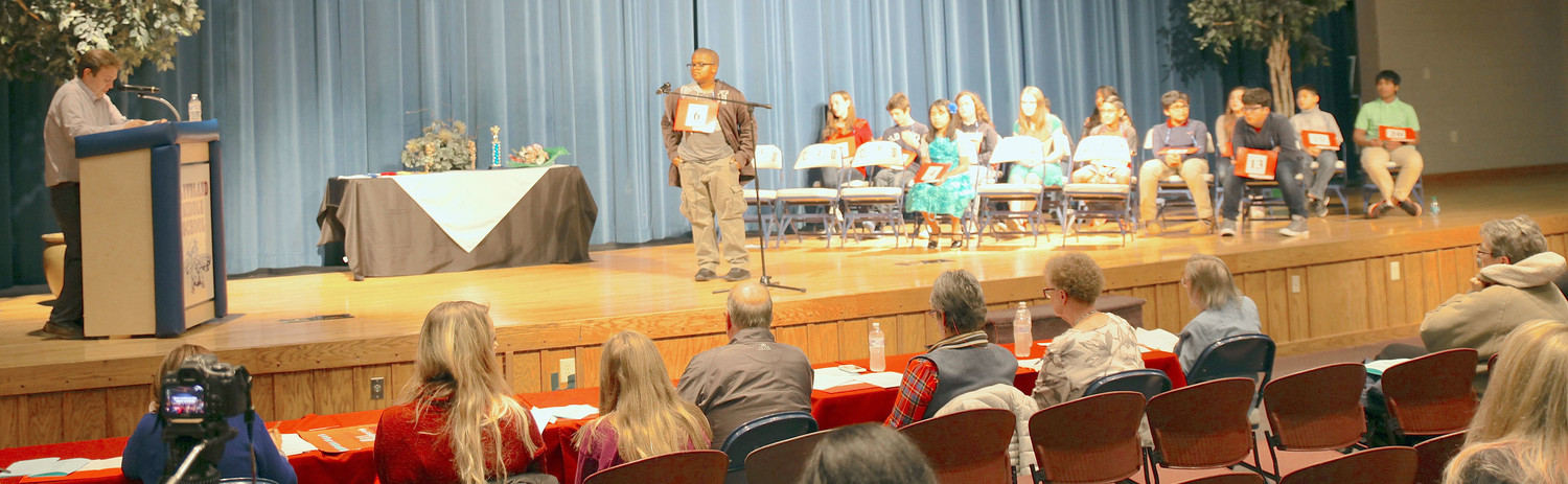 THE ANNUAL Mildred Maupin Spelling Bee took place at Cleveland Middle School on Tuesday.