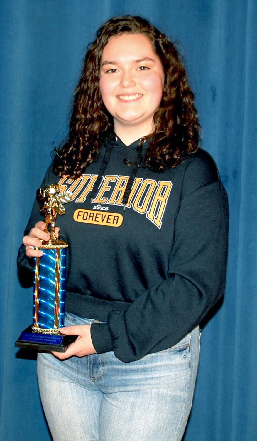 LYRIC MARLER, an eighth-grader at Cleveland Middle School, won the annual Mildred Maupin Spelling Bee on Tuesday to advance to regional competition.