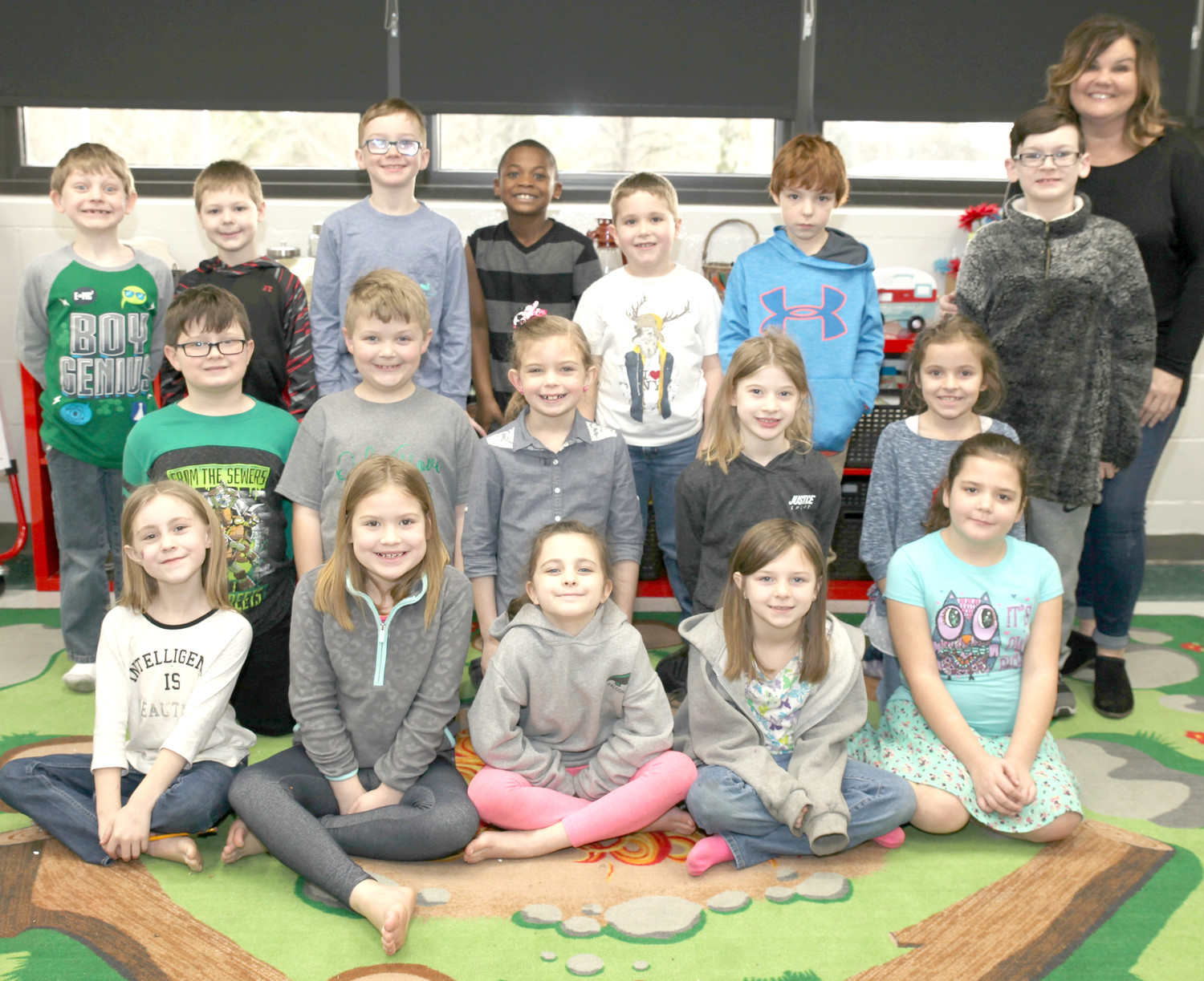 STUDENTS from Nikki Mason's second-grade class at Oak Grove Elementary School recently shared their thoughts on Presidents Day and what they would do as president.