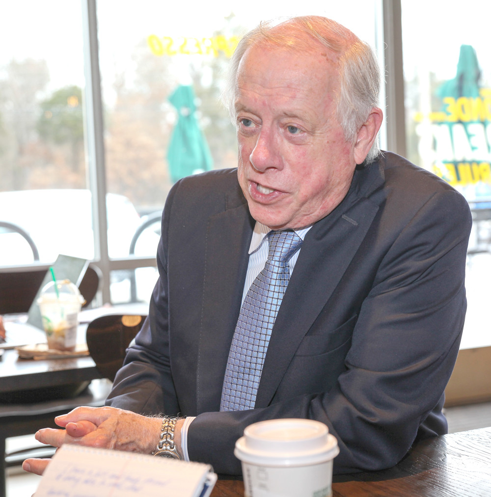 PHIL BREDESEN, former Tennessee governor and current U.S. Senate candidate, interviews with the Cleveland Daily Banner during his visit to Cleveland on Wednesday.