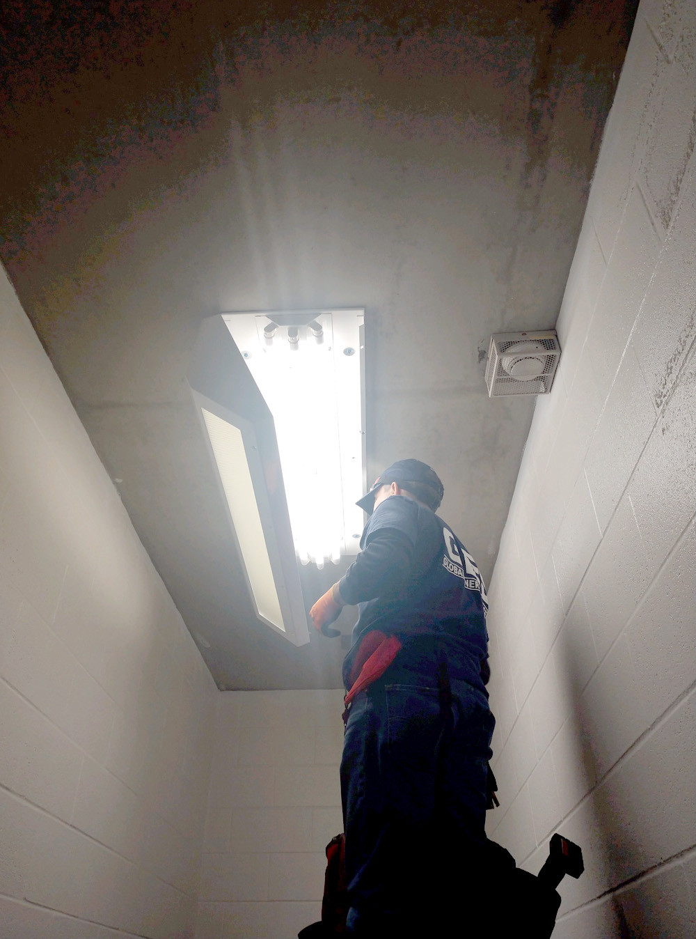 UPGRADES at the Bradley County Sheriff's Office include energy-efficient LED lighting and HVAC units. Due to work on the upgrades, visitation of inmates will be temporarily shut down until Monday, March 19.