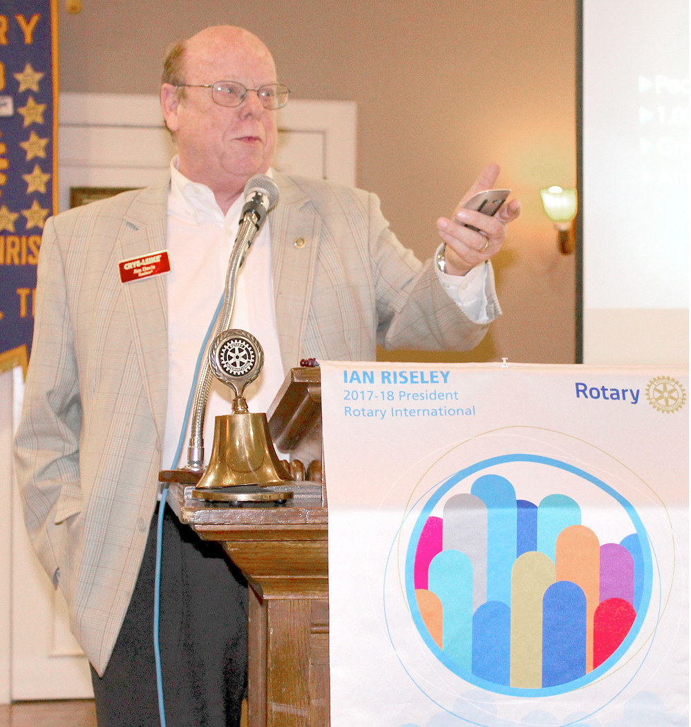 REAL ESTATE agent Jim Davis speaks to the Bradley Sunrise Rotary Club about some of the challenges the local community is facing as it grows.