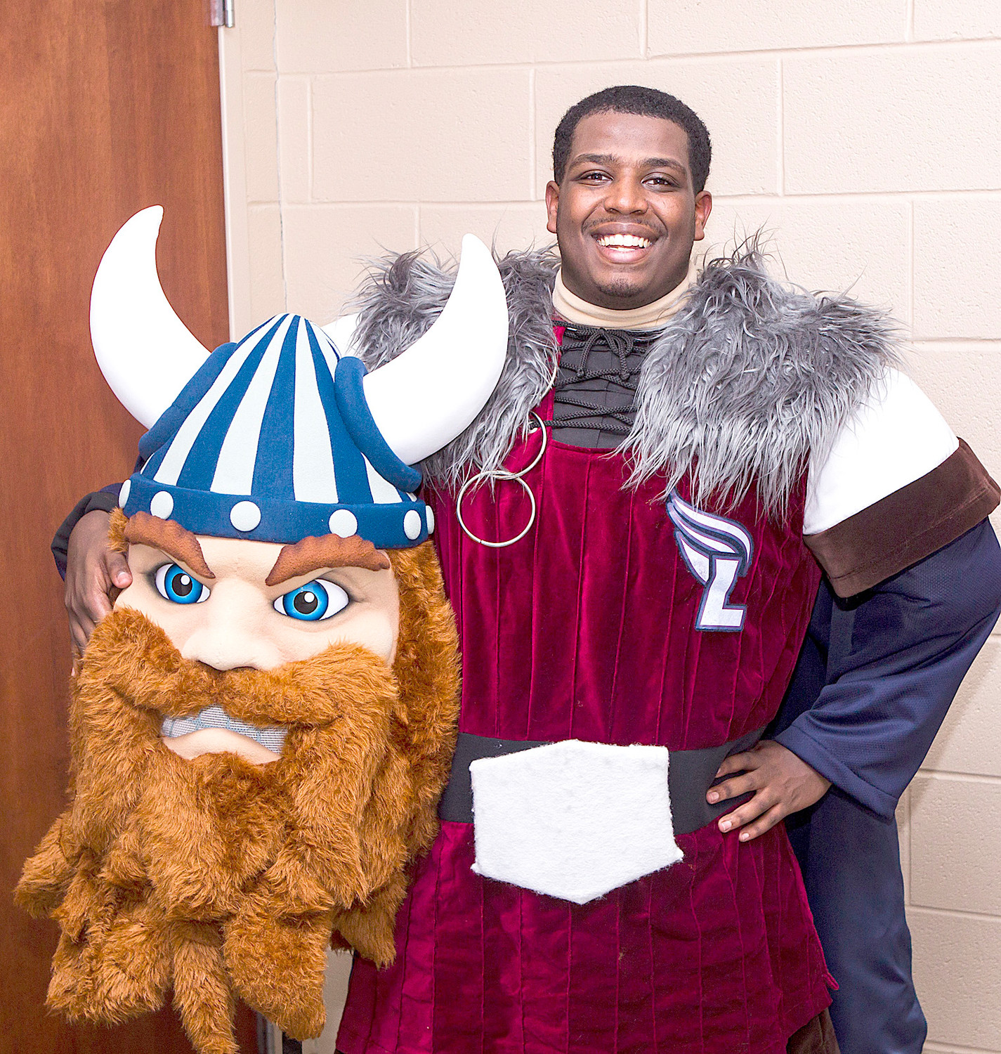 Valor the Viking is played by Lee freshman Yodahe Getachew.