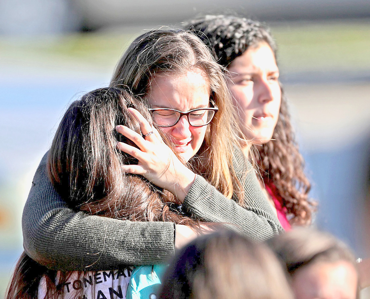 EMOTIONS RAN HIGH in the immediate aftermath of the Feb. 14 shootings at Marjory Stoneman Douglas High School in Parkland, Fla. Photo courtesy of John McCall of the Sun Sentinel/TNS/Getty Images.