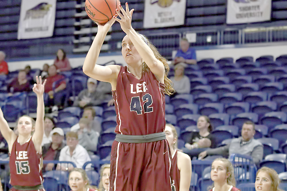 LEE UNIVERSITY senior Shelby Brown and the Lady Flames will take on North Alabama to open NCAA DII tournament play Friday, at 1 p.m.