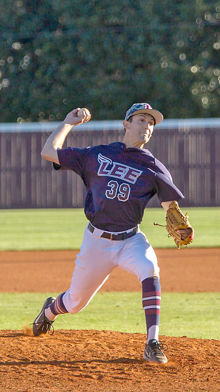 LEE'S Christian Bokich hurled five innings of shutout ball in Tuesday's win over Bellarmine University.
