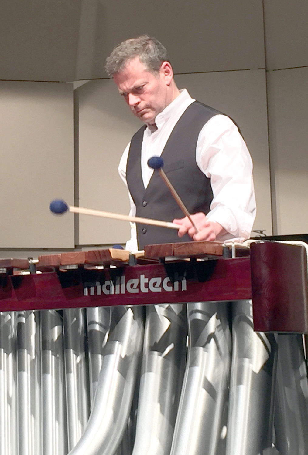 Lee Professor Dr. Andy Harnsberger is a percussionist, and can play a variety of different instruments. He says he's always been interested in music, and really started his musical career in sixth grade, after receiving a drum set.