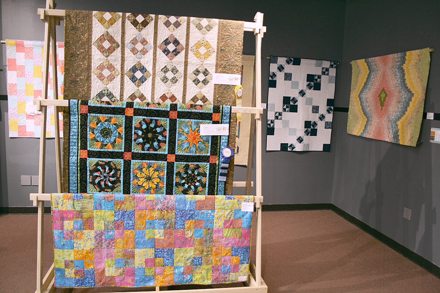 Some of the quilt winners for the show were not able to make it due to travel or personal reasons, but their absence did not stop those in attendance from admiring their hard work.