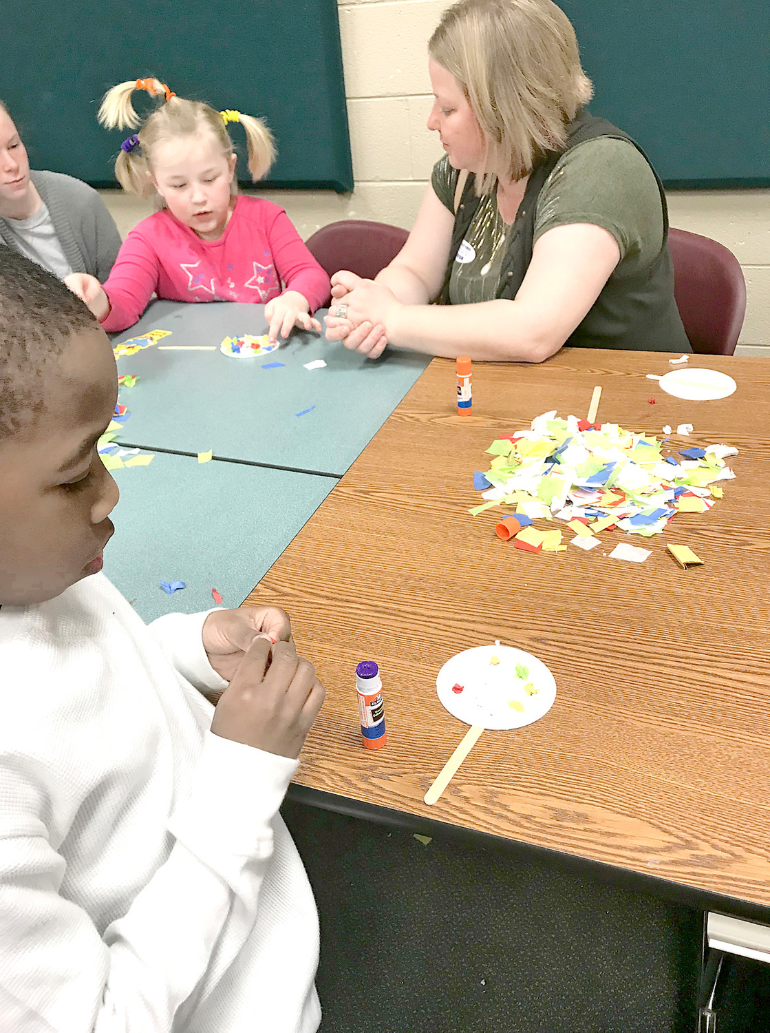 Blythe students have fun playing games and creating crafts during Blythe-Bower's weeklong salute to Dr. Seuss.