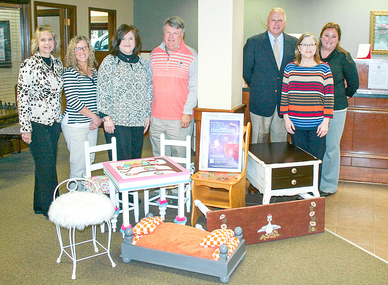 Chair Ries Displays Event Pieces At Andrew Johnson Bank