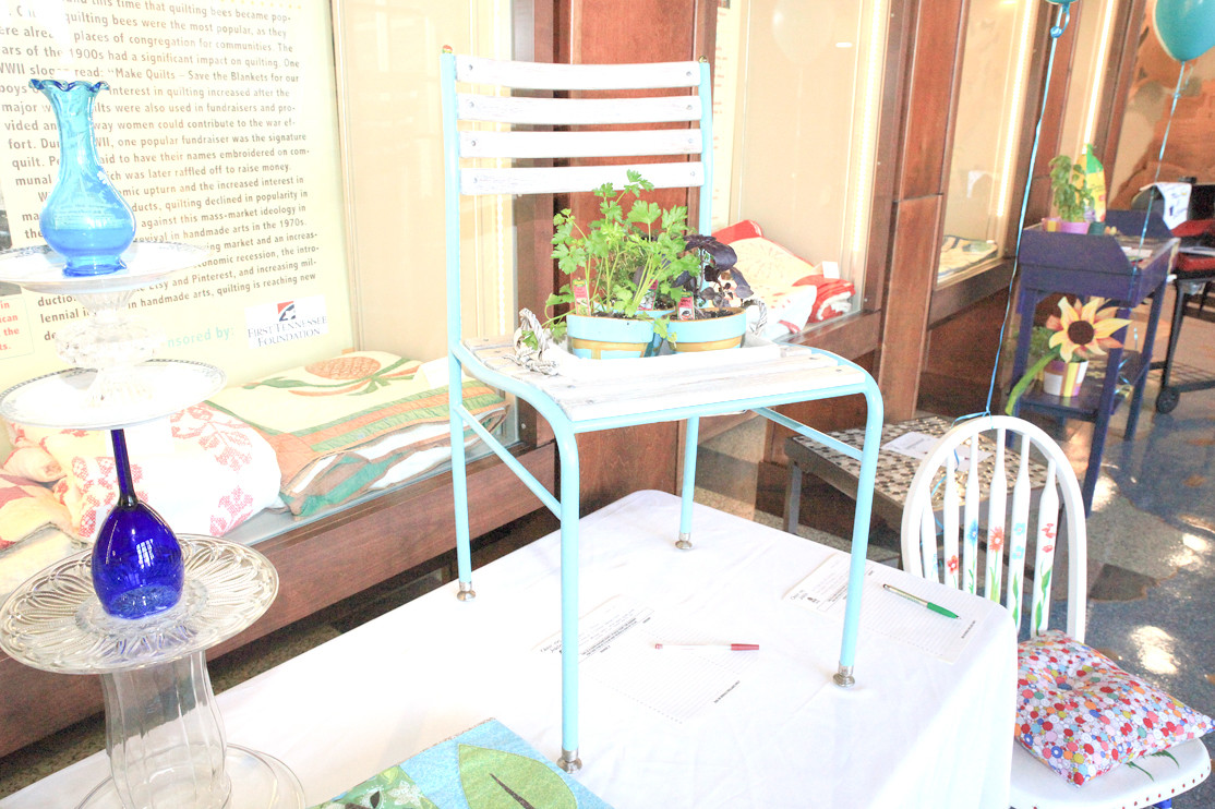 A DECORATIVE Garden Chair Sits Atop One Of The Showcase Tables At Chair Ries  Jubilee
