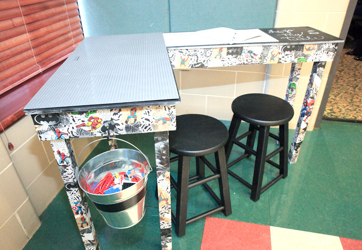 THIS CORNER LEGO And Superhero Themed Table Was One Of The More Inspired  Childrenu0027s Pieces In
