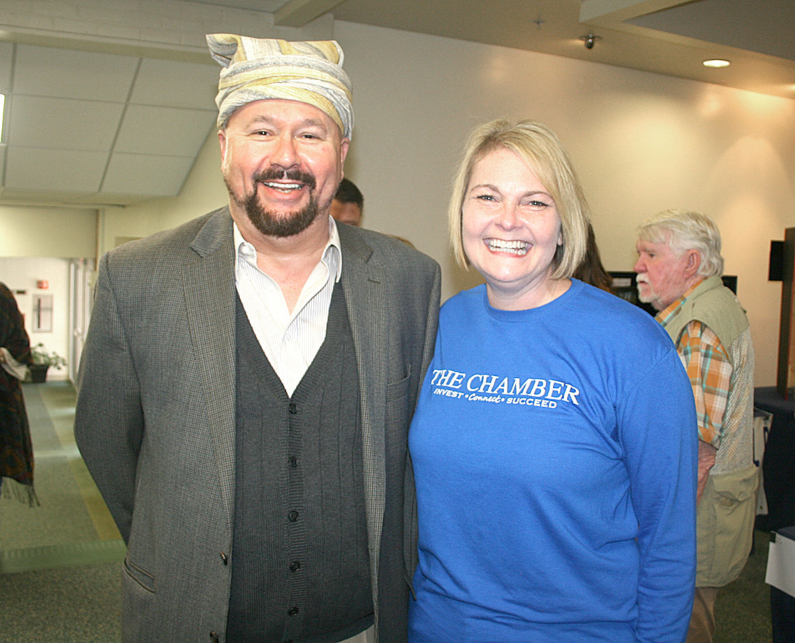 Troy Wayne Poteete, left, stands with Melissa Woody, right, at the Trail of Tears Symposium.