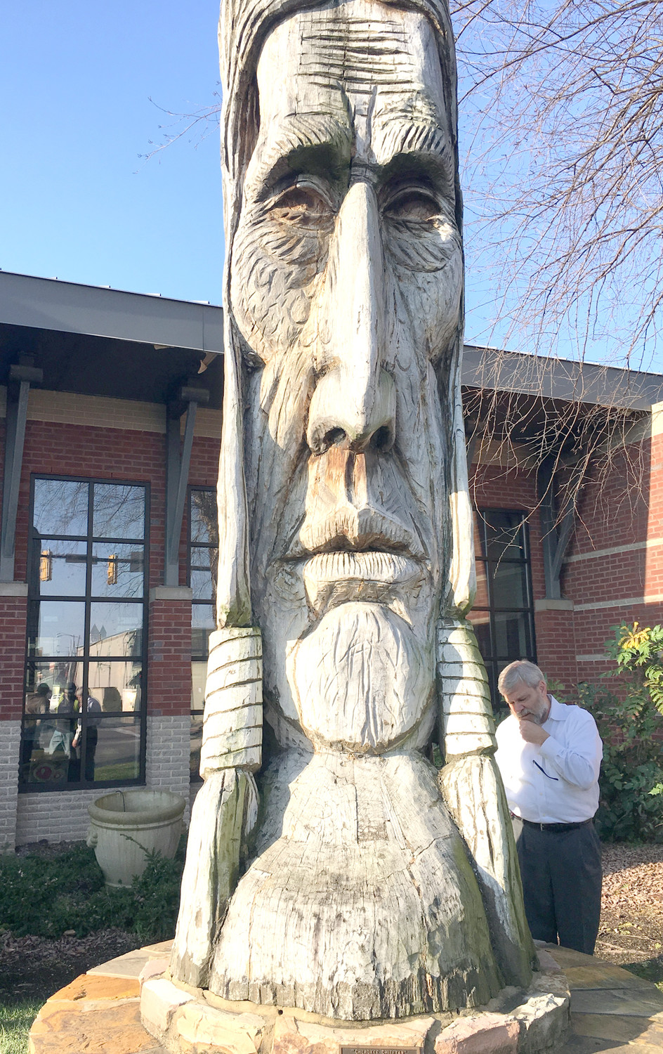 "CHEROKEE CHIEFTAIN, the longstanding, historic landmark that defines much of the region's Native American legacy, will receive another makeover due to its deteriorating condition. Original sculptor Peter ""Wolf"" Toth, who presented the statue as a gift to the city of Cleveland in 1974, reportedly plans to return later this year to complete the restoration. The long-admired statue stands in front of the Museum Center at Five Points."