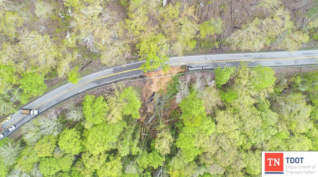 TDOT working on road slide site in Rhea County | The