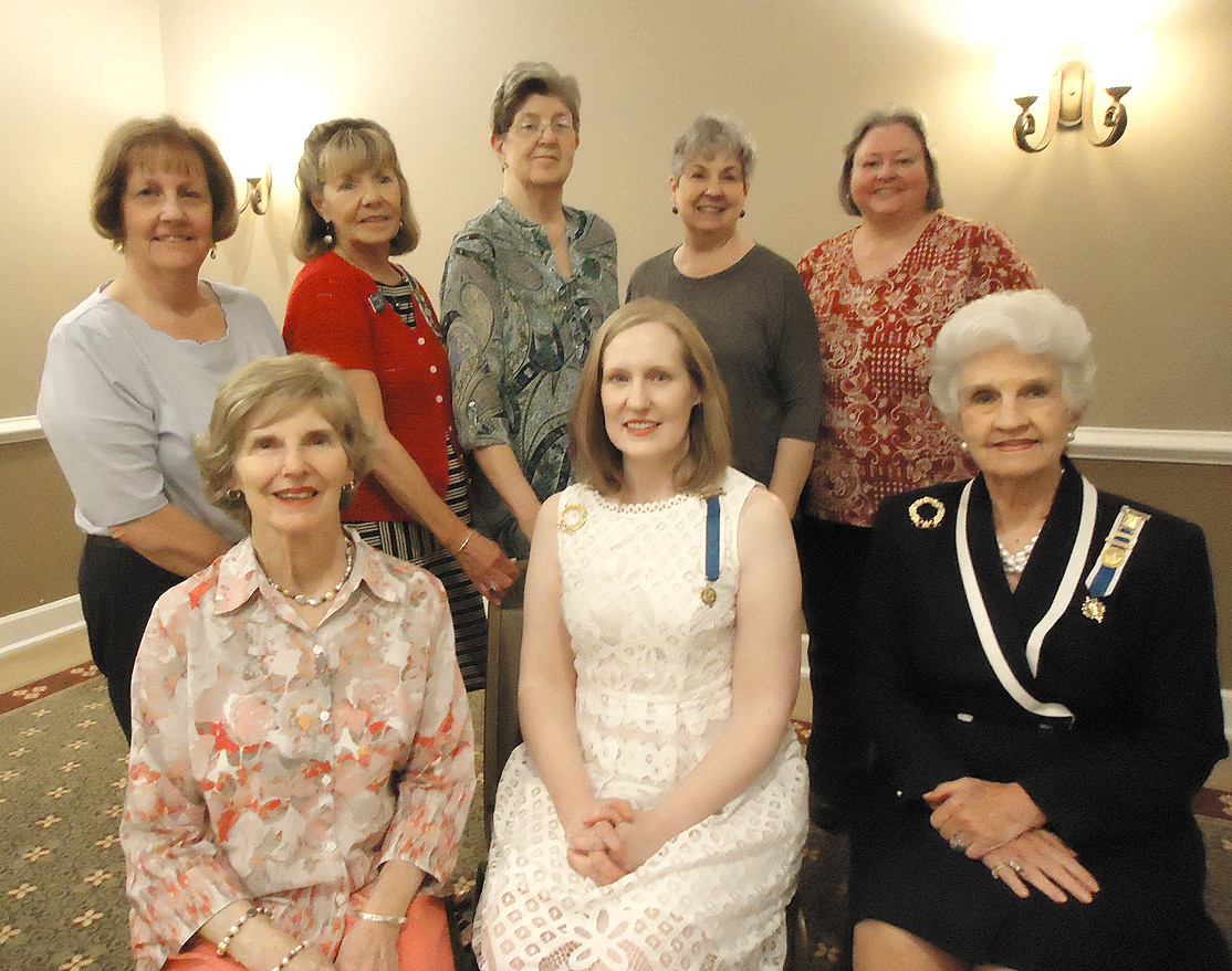 OFFICERS for the Ocoee Chapter of DAR include, seated from left,  