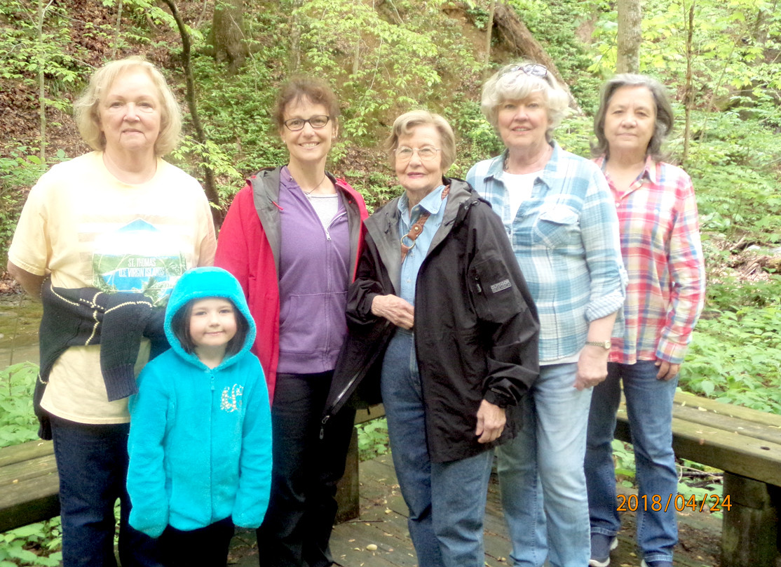 Members of the Magnolia Garden Club enjoyed seeing various flowering specimens during their stroll along the boardwalk at the Shirley Miller Wildflower Trail in Georgia, for their April meeting. From left are Ginger Cloud, Anne LeVert, Brenda Nakdimen, Elsie Yates, Linda Cross and Fredricka Lawson.