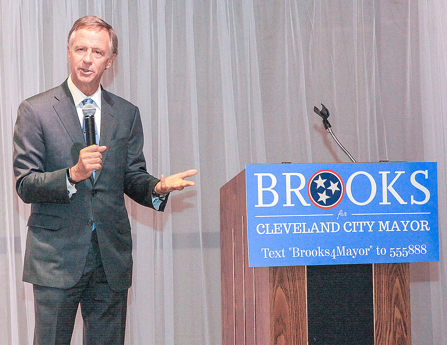 GOV. BILL HASLAM was the keynote speaker at the Kevin Brooks for Cleveland City Mayor Campaign Kickoff on Friday evening at the Museum Center at Five Points. Haslam endorsed Brooks during his Cleveland visit.
