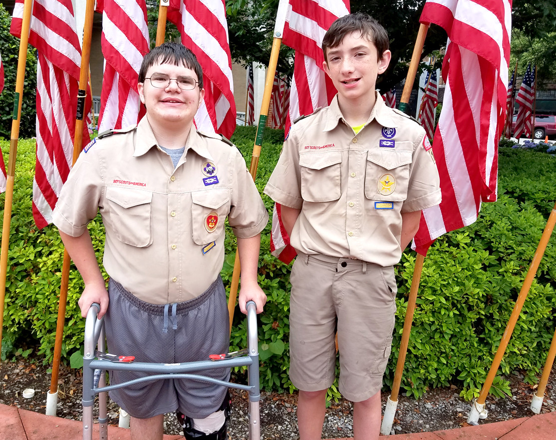 COLTON GUTHRIE is assisted by his brother, Cody. The Guthrie family has been involved in Scouting for 16 years. Their father, Newton Guthrie, is a 23-year retired Navy veteran. Their older brother, Conner, who is an Eagle Scout, is currently on active duty with the U.S. Navy.