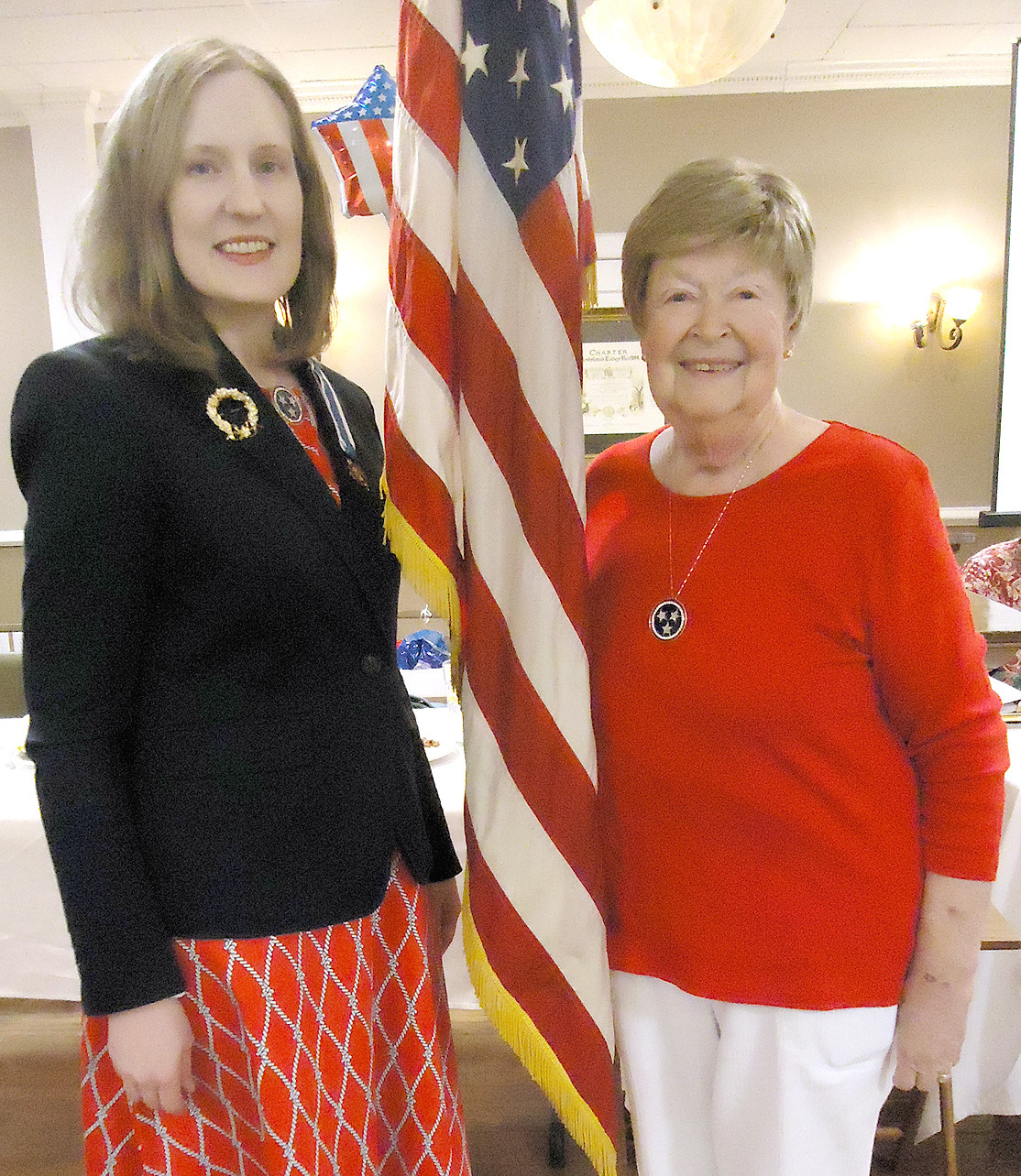 Ocoee Chapter DAR June meeting hostesses were Regent Leigh Ann Boyd and Maggie Evans. Linda Boyd was also a hostess.