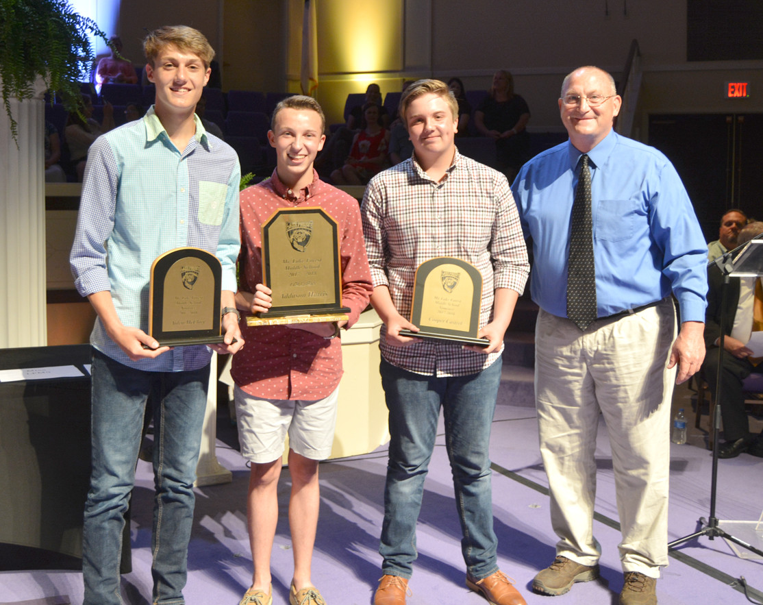 The Mr. LFMS nominees were Aiden McClary, Addason Harris and Cooper Casteel. Harris was the winner.