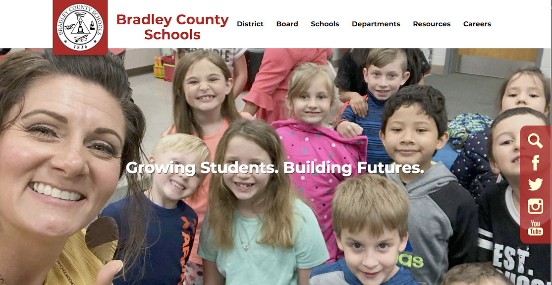 BRADLEY COUNTY SCHOOLS just debuted a new website design, and staff are working to create similar new sites for each of the county schools.
