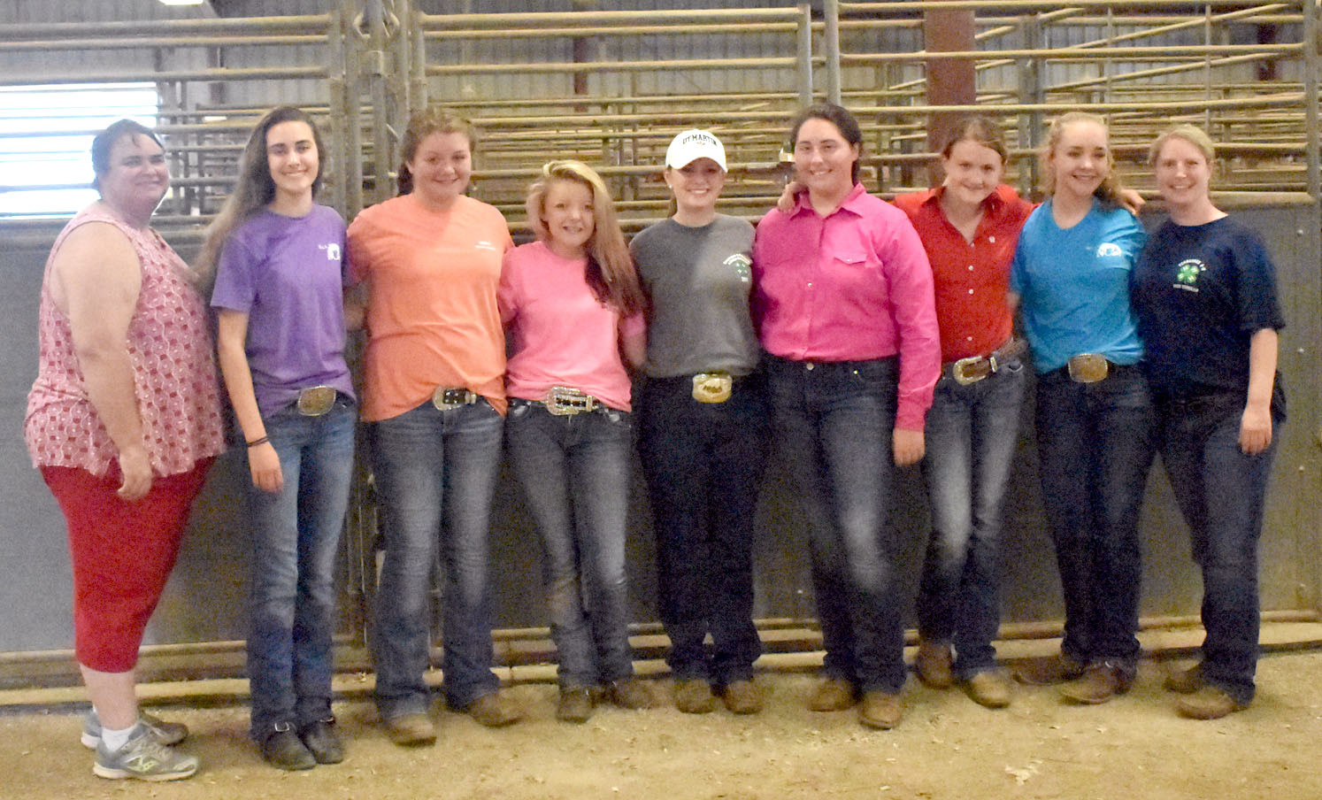 Attending the Eastern Region Horse Show from Bradley County were Jennifer Myers (co-leader), Kaitlyn Madson, Rylie Millsaps, Maggie Sims, Kyra Petty, Stephanie Bates, Payton Schwager, Lily McDonald and Sarah Petty (co-leader).