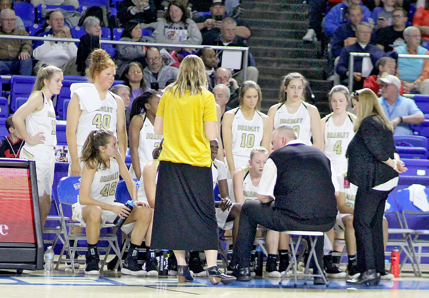 "AFTER A STRONG summer showing, the Bradley Central Bearettes are a favorite to return to the ""Big Glass House"" in Murfreesboro in another state tournament run this coming hardwood season, despite the graduation of Miss Tennessee Basketball Rhyne Howard."