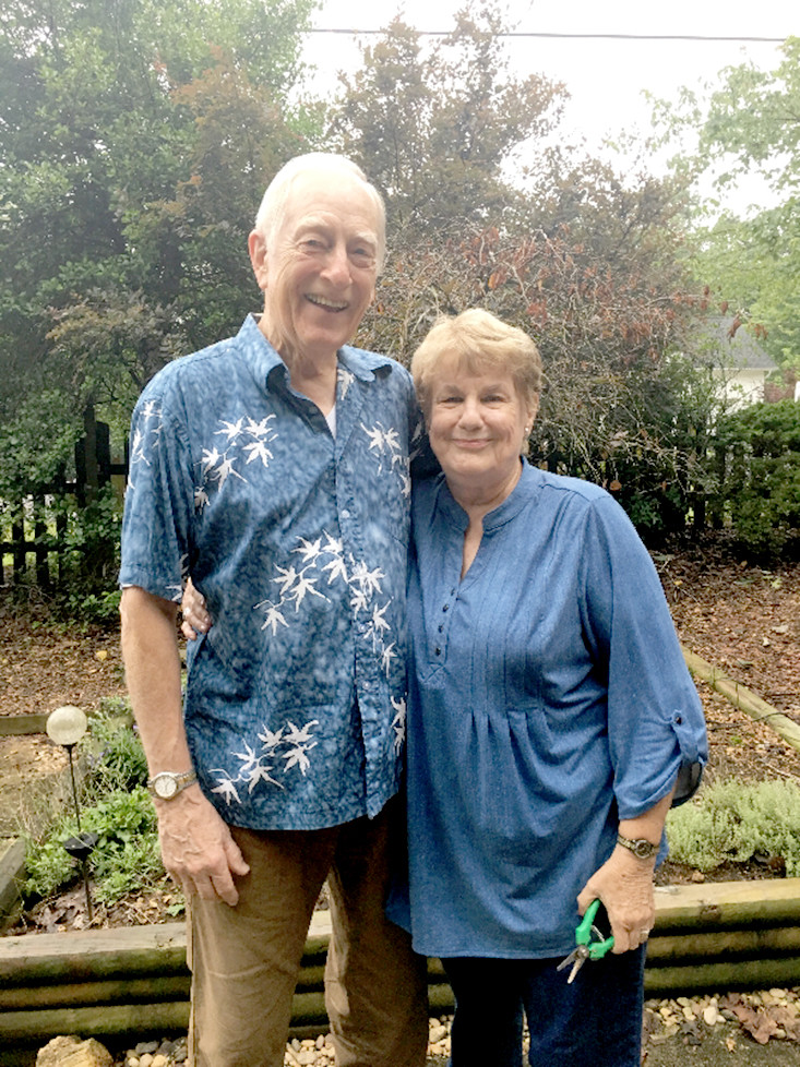 CHARLES AND SHARON GUY hosted the Magnolia Garden Club at their home in June. According to club members, the couple is intensely passionate about their garden and all the hard work put into it.