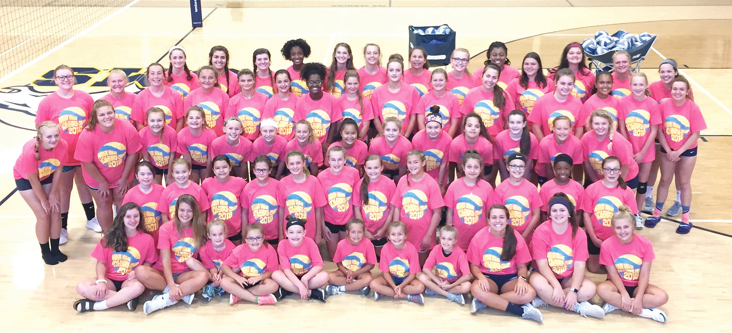 THE  WALKER VALLEY Lady Mustangs hosted their annual Volleyball Camp, July 23-25. Close to 50 campers attended the camp, which was hosted by Lady Mustangs coaches and players. Campers learned the fundamentals of passing, setting, and serving skills, and also participated in team-type competition.