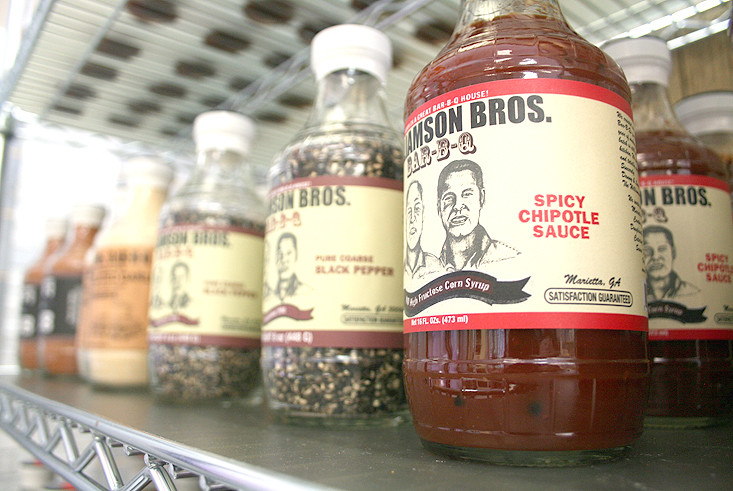 WILLIAMSON BROS. BBQ SAUCE is just one of several local items sold by Game Day. Made in Georgia, the sauce is the perfect compliment to many of the meats and cheeses destined for the grill. Owners of Game Day, Lillian and Dominic Cusumano, said they want to have as many local offerings as possible, to not only garner customer attention, but also support their fellow businesses.
