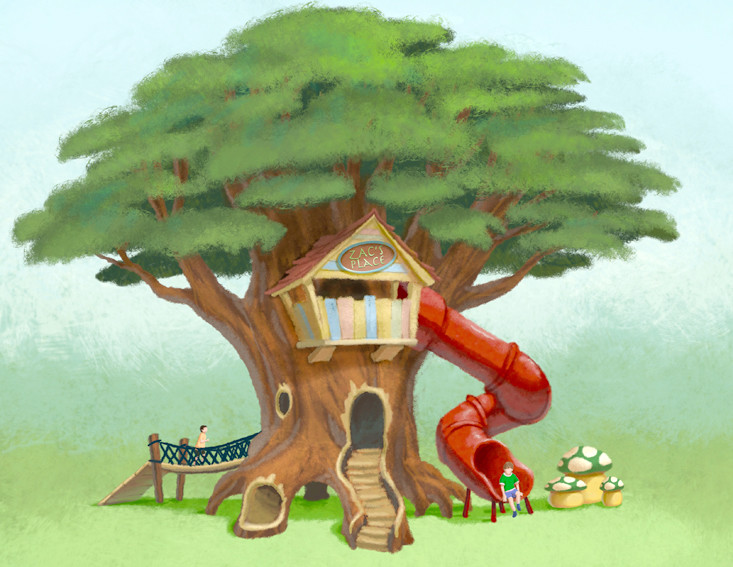 A TREEHOUSE, which will help tell the story of Zacchaeus in the Bible, is among the exhibits planned for the proposed Trek Thru Truth children's museum in Cleveland. 
