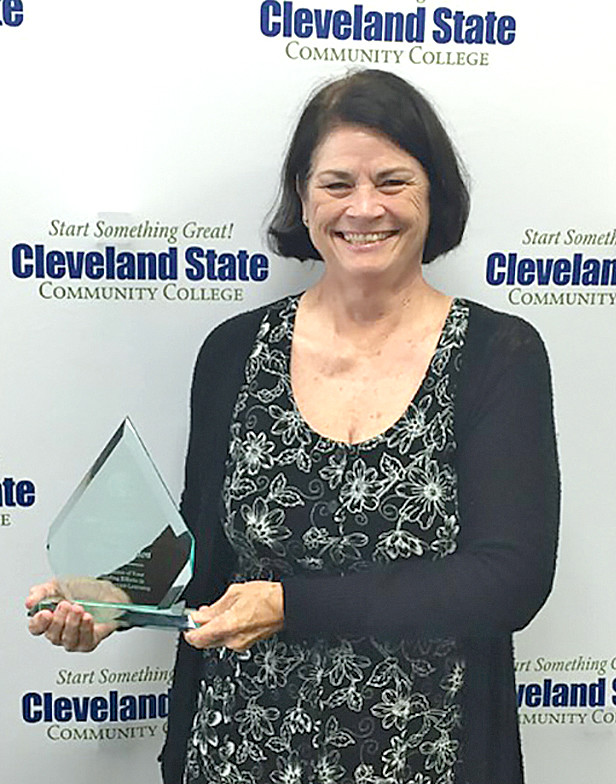 Donna Brogdon, associate professor of Business and Management, was recently selected as the 2018 Service-Learning Champion at CSCC. It is an annual faculty-staff nominated award honoring a colleague who has demonstrated commitment to the promotion of service-learning.