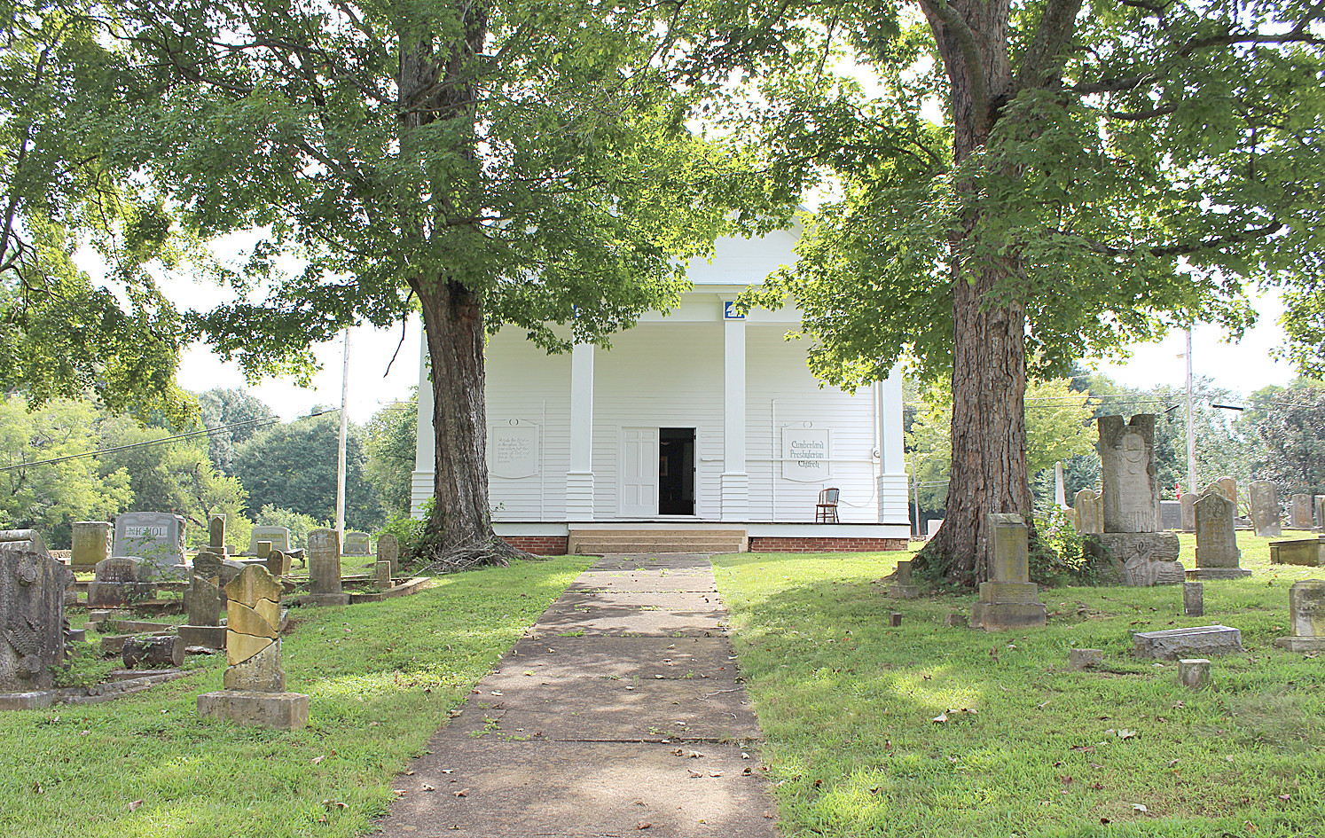 THE HISTORIC CHARLESTON Cumberland Presbyterian Church, established in 1860, was open for tours on Saturday. Attendance was slow due to the Cowpea Festival and other activities.