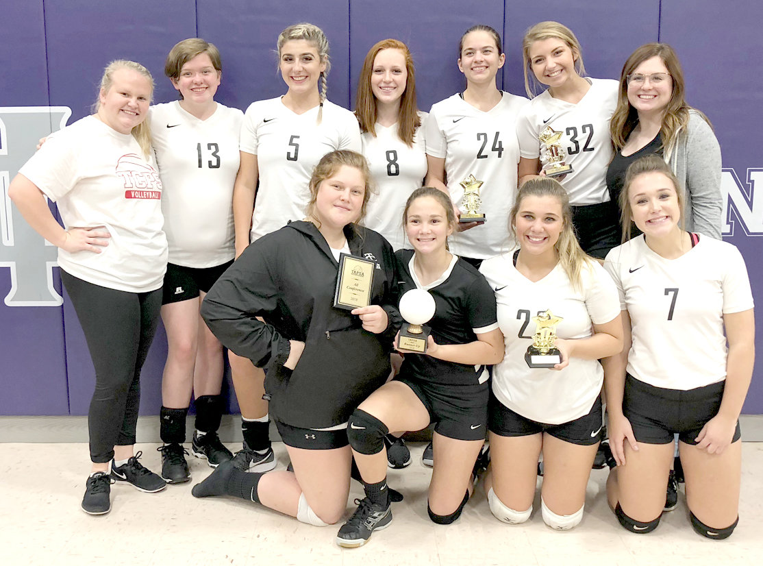 THE TCPS volleyball team wrapped up it season with a runner-up finish in the TAPSA Tournament. Players Hannah Armao (24), Sarah Knipp (23), Raylee Evans (32) and Abby Chase (kneeling, left) were named to the All-Tournament Team.