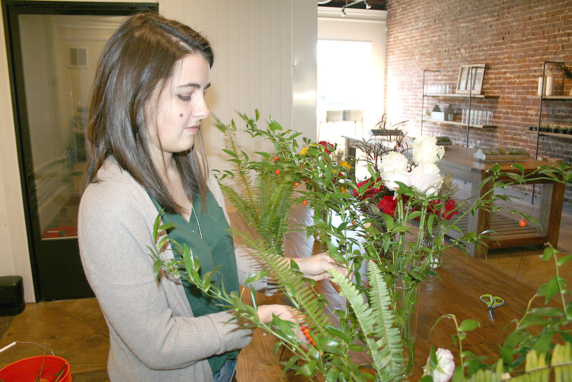 UNIQUE is the word Cheyenne Hamilton uses to describe her floral arrangements at Stems at Five Points. The new business can provide flower arrangements for weddings, birthdays, funerals, etc. The florist business prides itself on catering each order to the individual's needs.