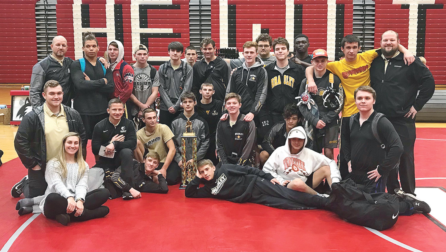 BRADLEY CENTRAL traveled to the Birmingham, Ala., area Wednesday and defeated a trio of Alabama state champs on their way to winning the Hewitt-Trussville Duals. The Bears won five straight matches to kick off their mat season.
