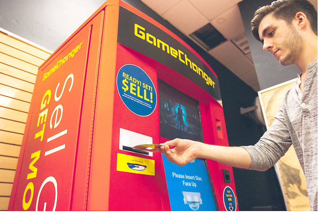 A GAMECHANGER kiosk works by scanning your video games and offering you the highest buyback price available, after comparing Walmart and Gamestop prices. The process takes between 15-20 seconds and allows gamers to skip the long lines and even longer wait times to sell their used games.