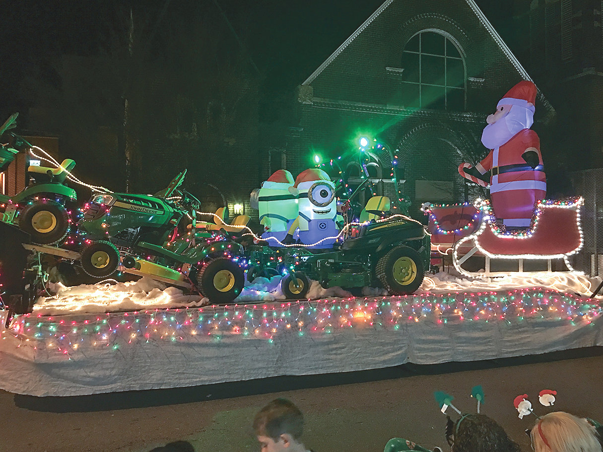 HOMESTEAD LAWN & TRACTOR Co. was the winner in the Large Community Float category in the 2018 MainStreet Christmas Parade.