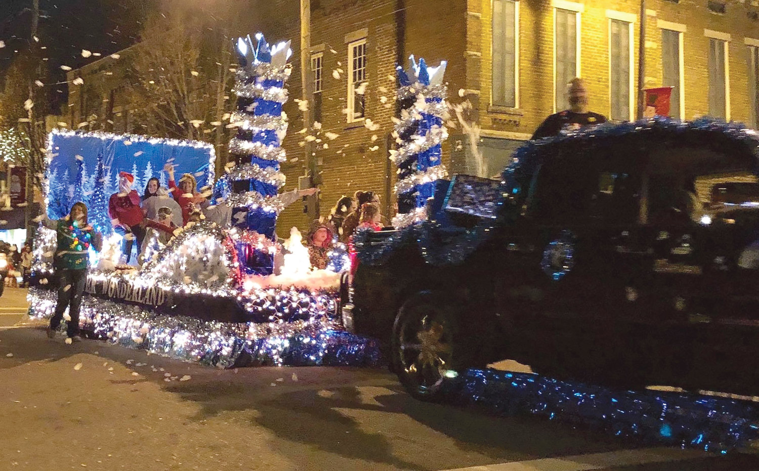 THE WINNER in the Religious float category during the MainStreet Christmas Parade was Unity Church of God. MainStreet Cleveland credited Trophies Unlimited for being the trophy sponsor.
